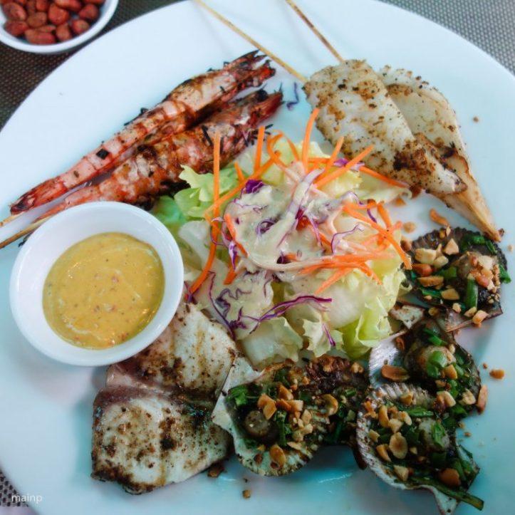 BBQ seafood platter