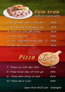 Lunch set and Pizza