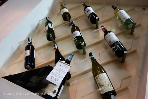 Wine stack in non-smoking room