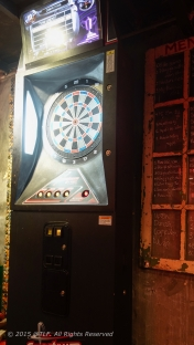 Darts and a dartboard