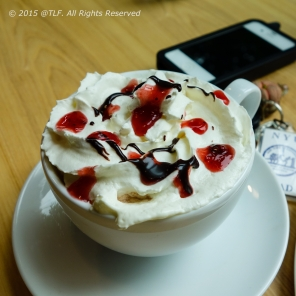 Strawberry Hot Chocolate Cocktail