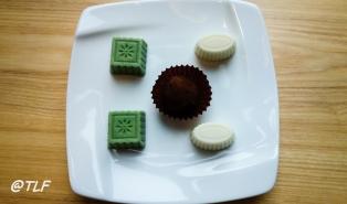 Matcha Cheesecake, Tiramisu, and Wasabi Chocolate