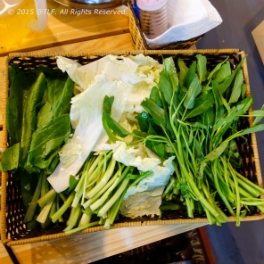 Fresh vegetables for Hot pot