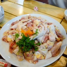 Raw whole chicken for hot pot