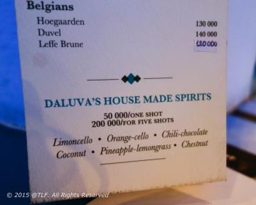 House made spirits
