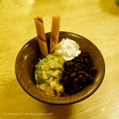 Matcha Ice Cream with Red Beans