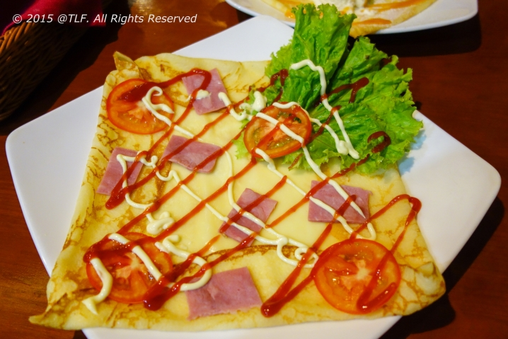Savory Ham and Tomato Crepe