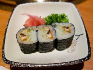 Unakyu Hosomaki - Eel and Cucumber Roll - Sushi cuon luon va dua leo