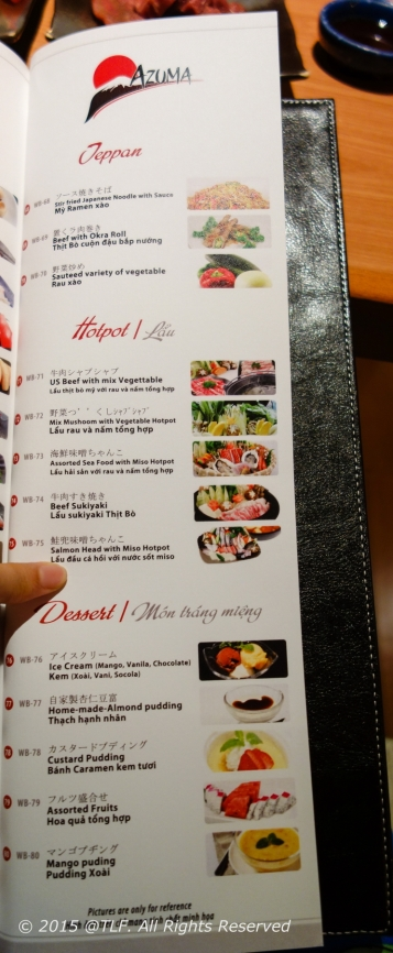 Last page - Teppan, Hot Pot and Dessert