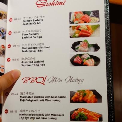 Sushi, Sashimi, BBQ