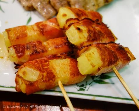Bacon Wrapped Potato Skewers
