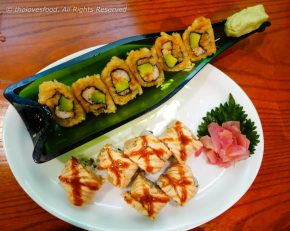Sweet Tempura Roll and X Salmon Roll