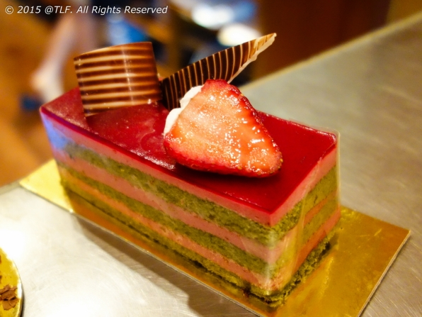 Strawberry Green Tea Cake