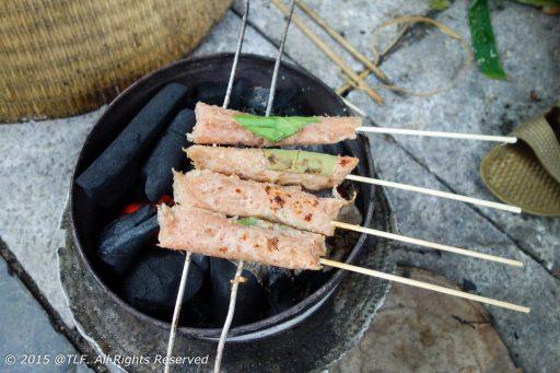 Grilling Nem Chua