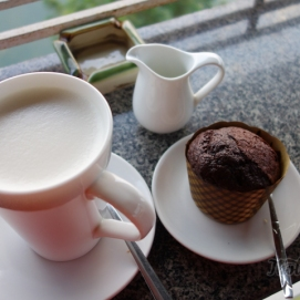 Soy milk and Chocolate muffin