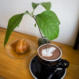 Croissant and Hot Chocolate