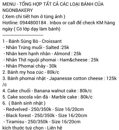 FB Ngon Bakery (12/2017)