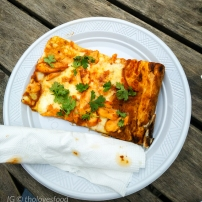Pizza chicken tikki masala
