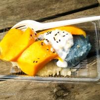 Mango sticky rice (Thai food)