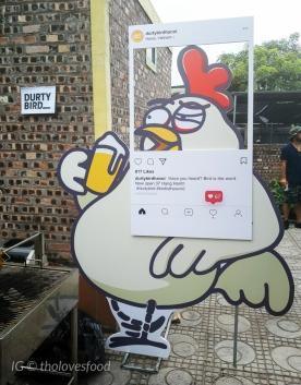 Durty Bird insta-worthy corner